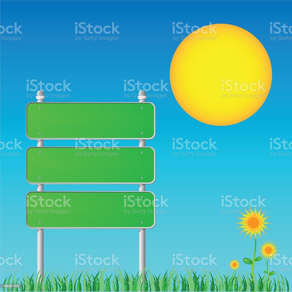 Green Sign royalty-free stock vector art