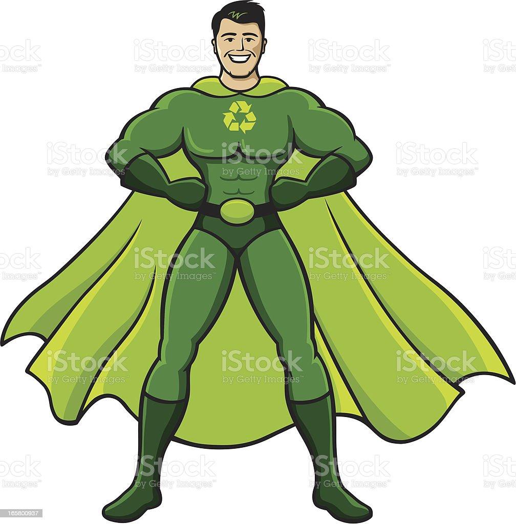Green Super Hero royalty-free stock vector art