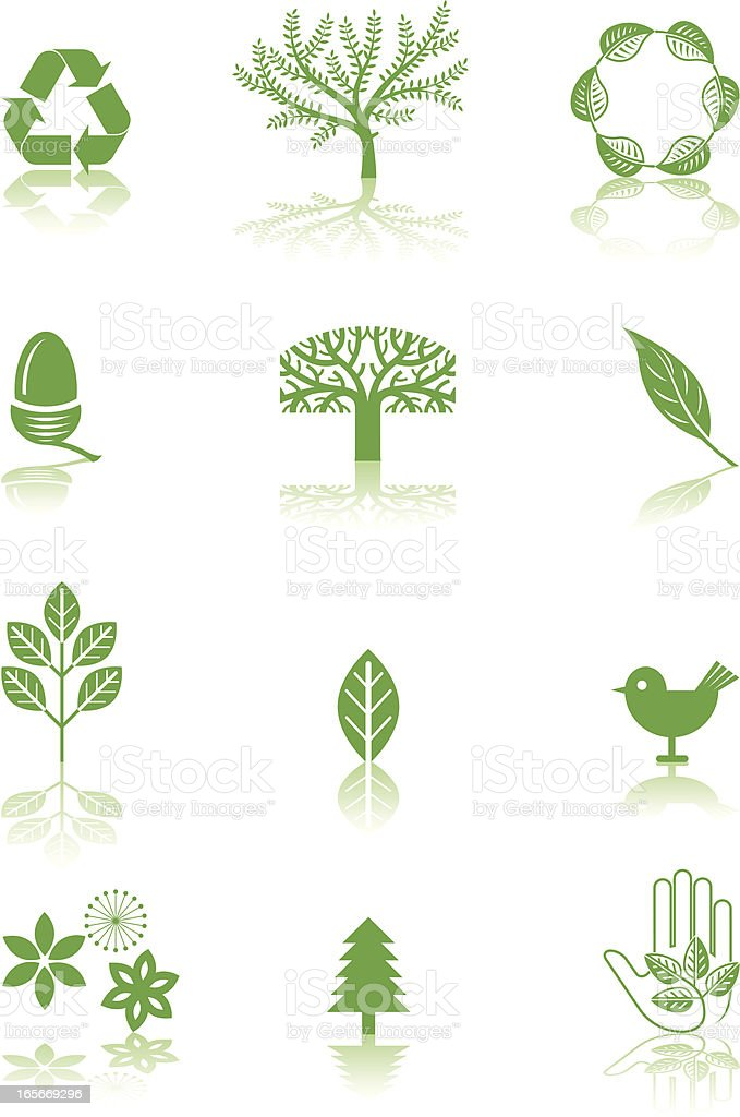 Green symbols royalty-free stock vector art