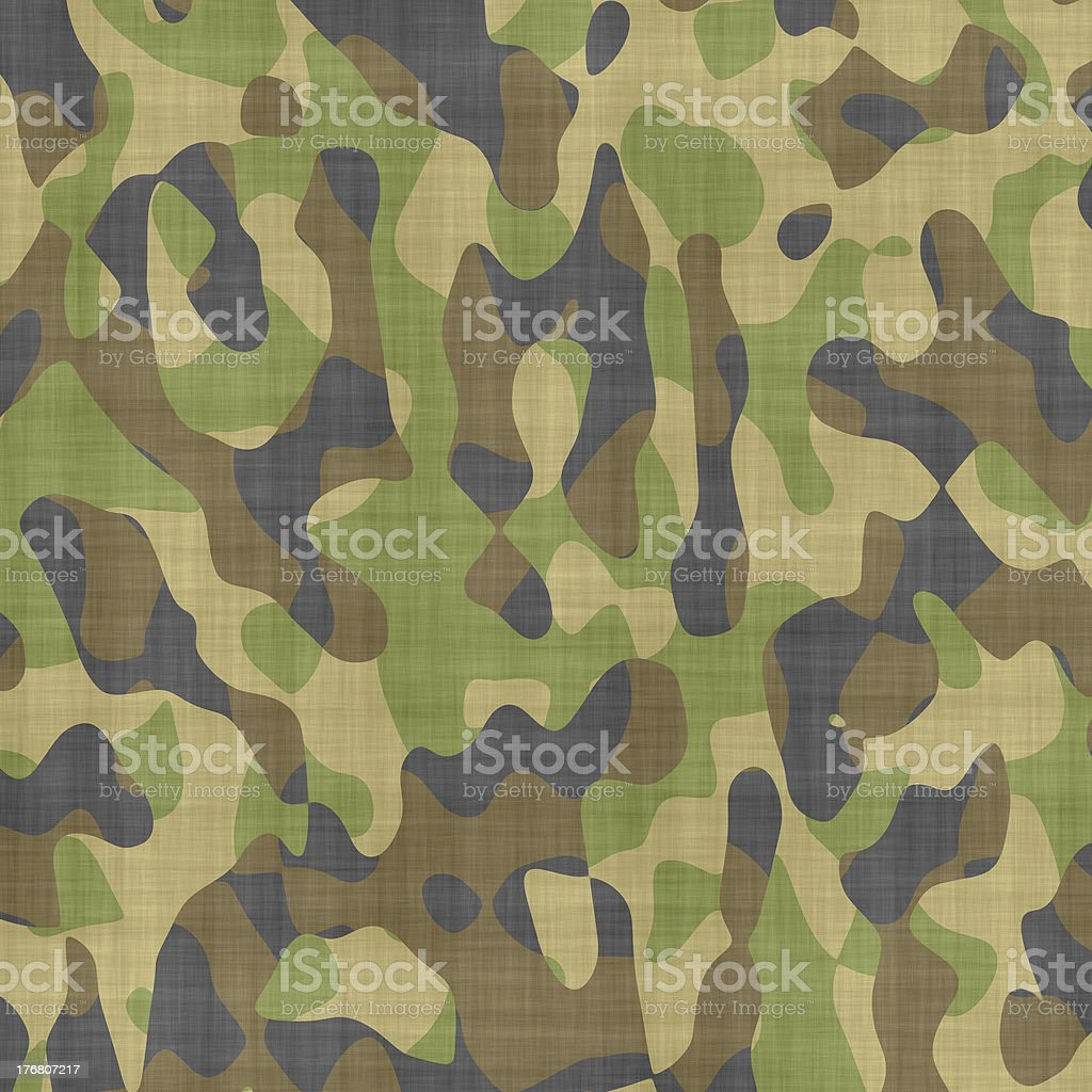 Green, tan, brown, and black in camouflage style stock photo