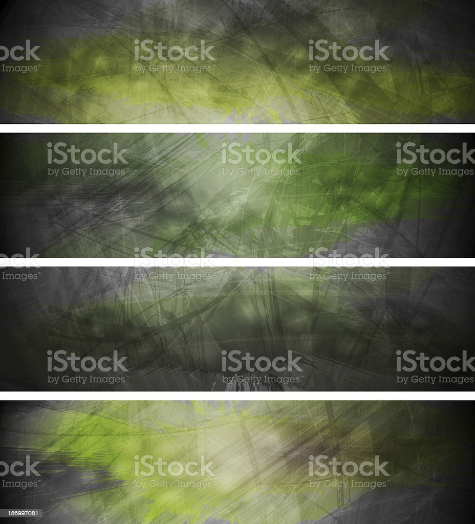 Green textural backgrounds set royalty-free stock vector art
