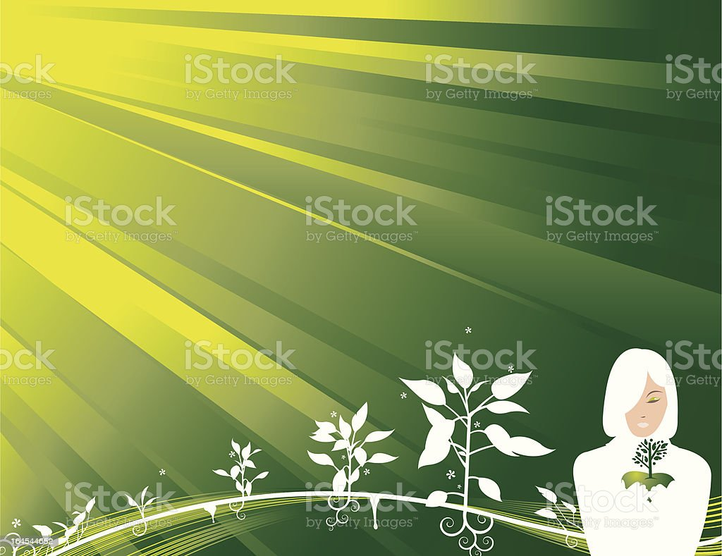 Green the earth royalty-free stock vector art