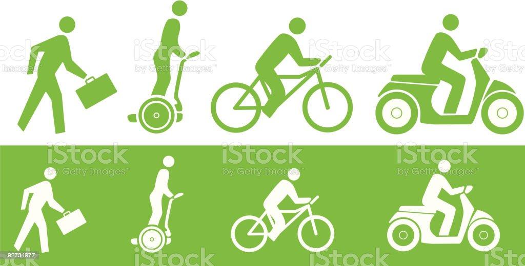 Green Transportation vector art illustration