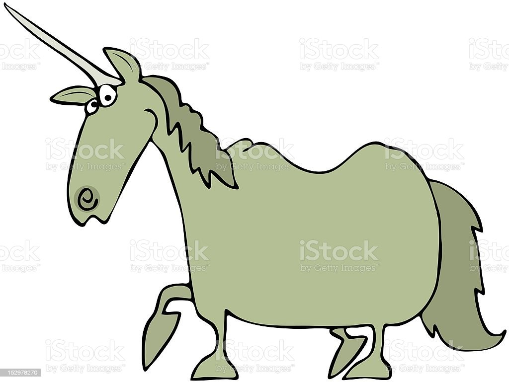 Green Unicorn royalty-free stock vector art