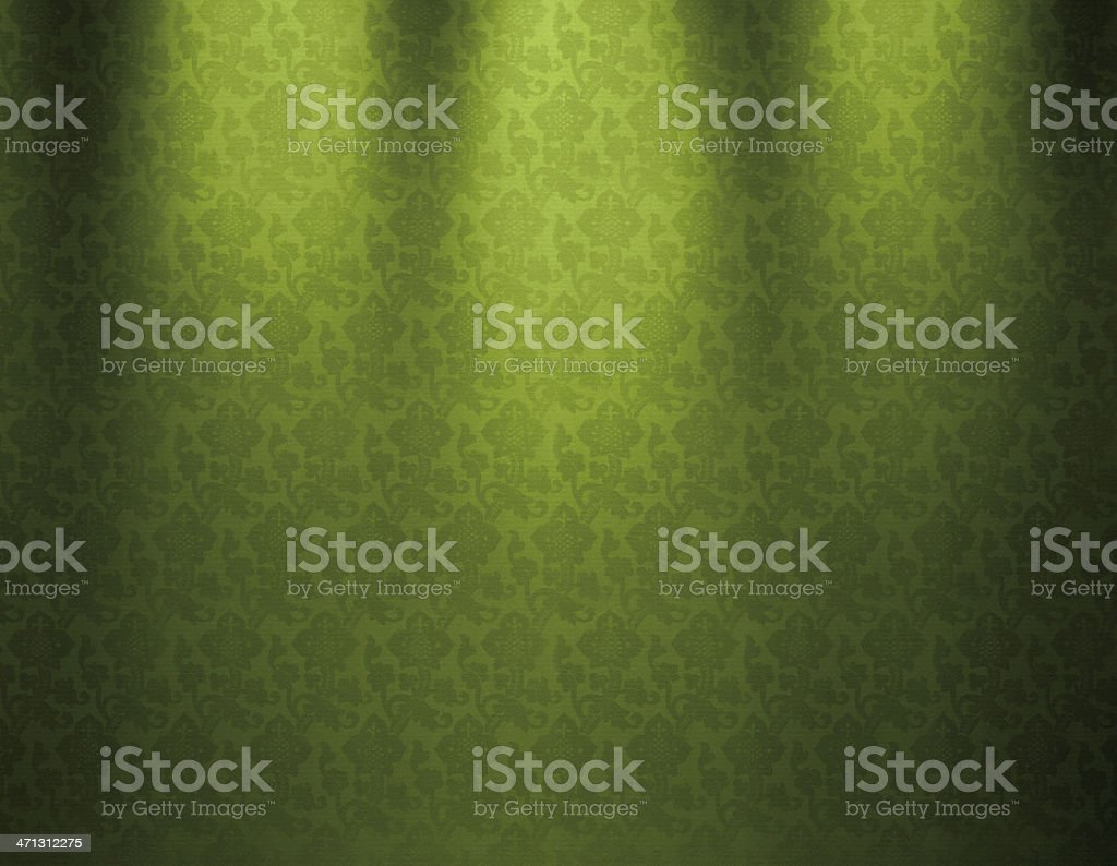 Green Vintage Wallpaper royalty-free stock vector art