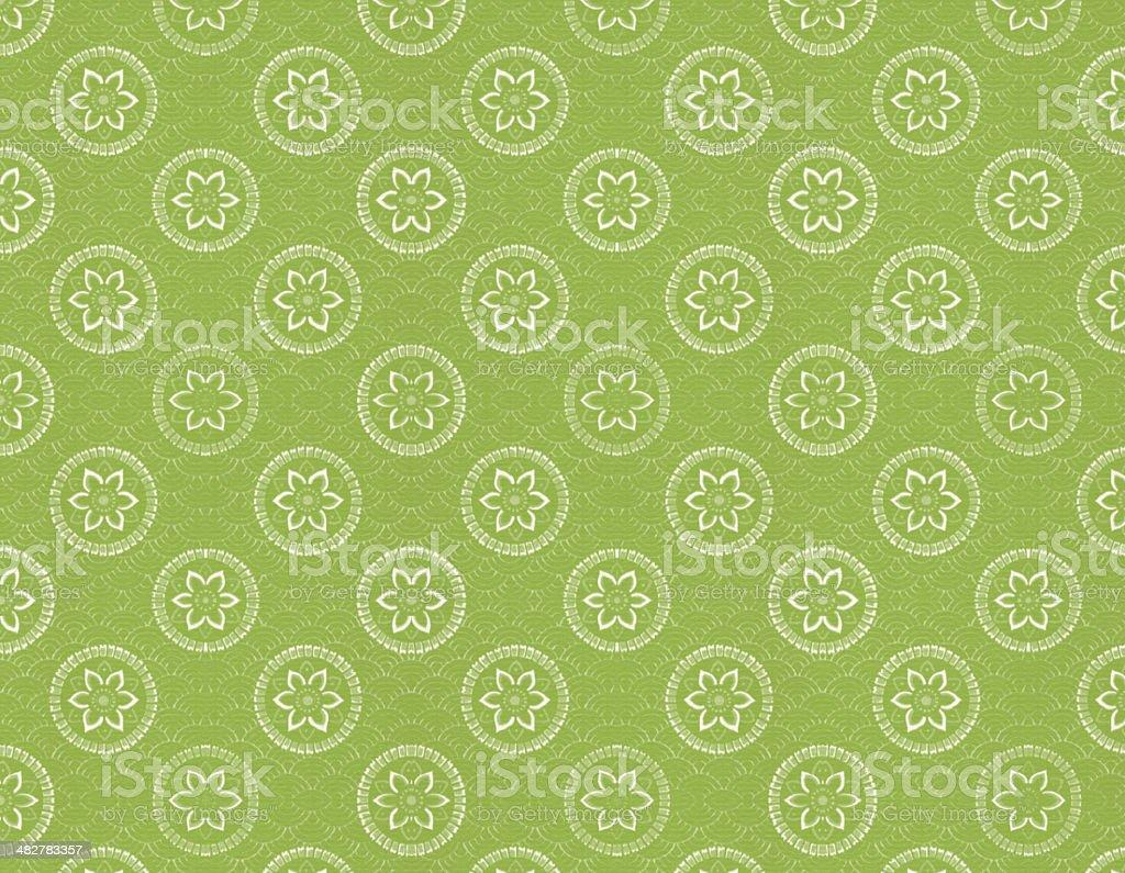Green Vintage Wallpaper royalty-free stock vector art