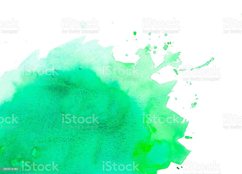 Green watercolor background vector art illustration