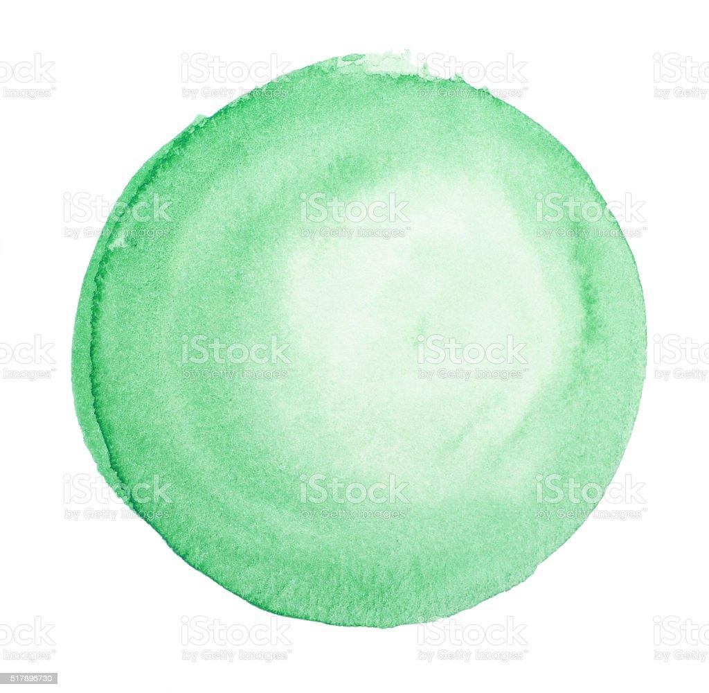 Green Watercolor Paint Circle Abstract vector art illustration