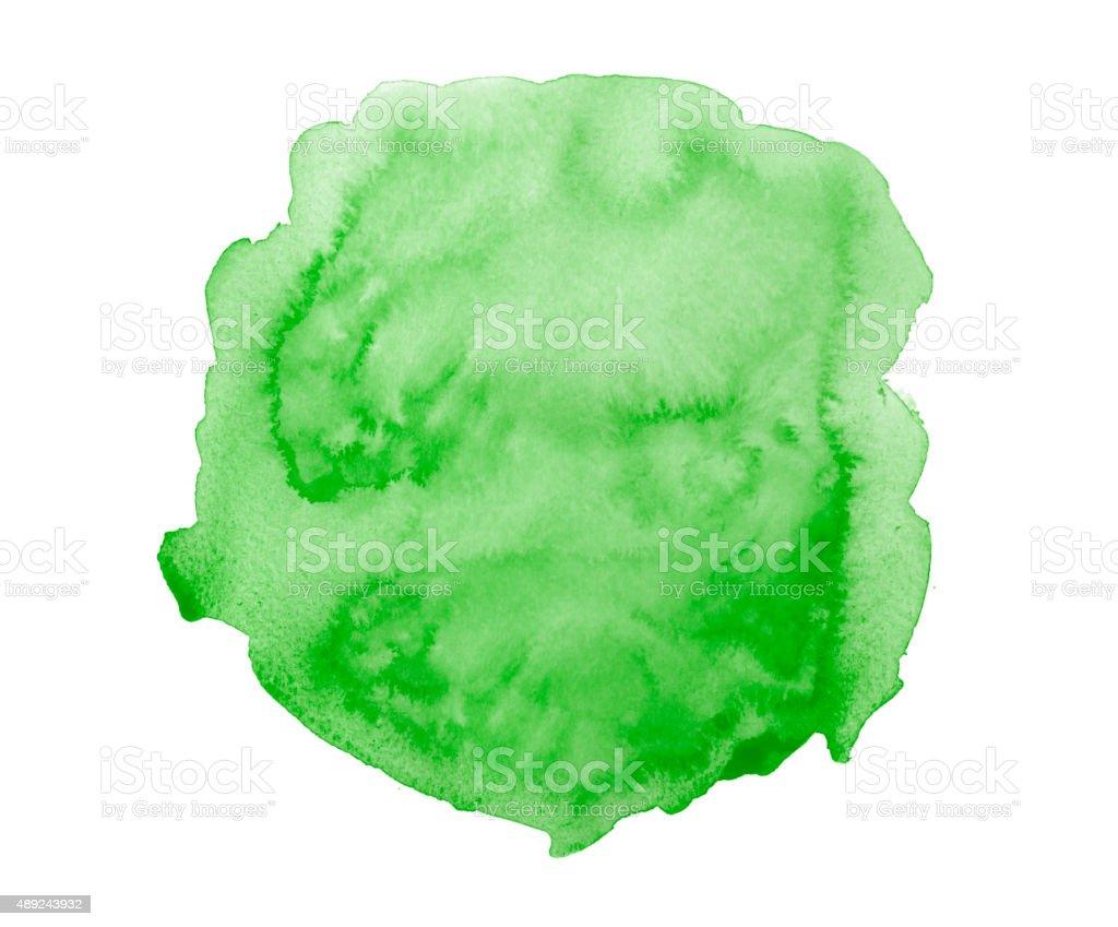 Green watercolor spot vector art illustration