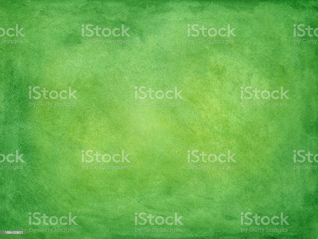Green watercolored painted paper vector art illustration
