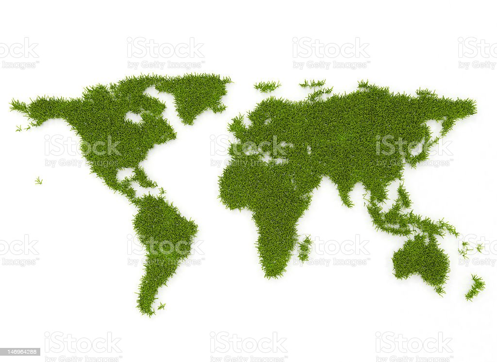 Green World map royalty-free stock vector art