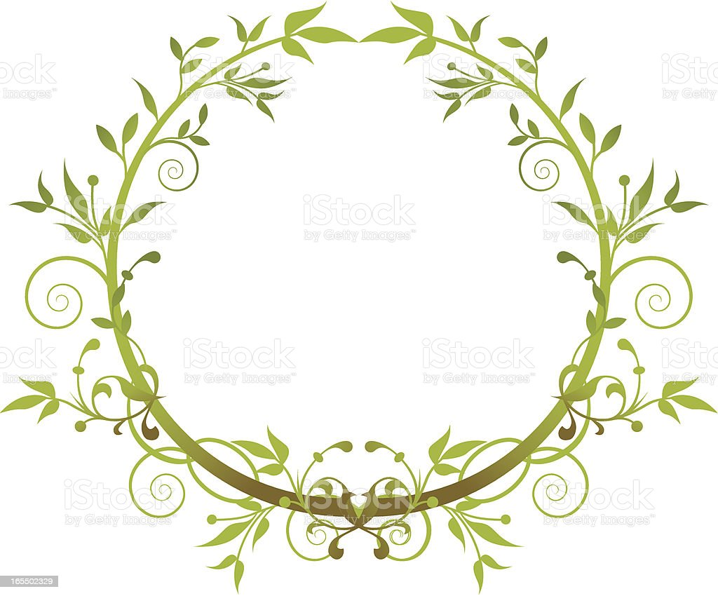 Green wreath royalty-free stock vector art