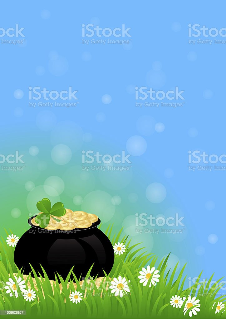 Greeting Card St. Patrick's Day royalty-free stock vector art