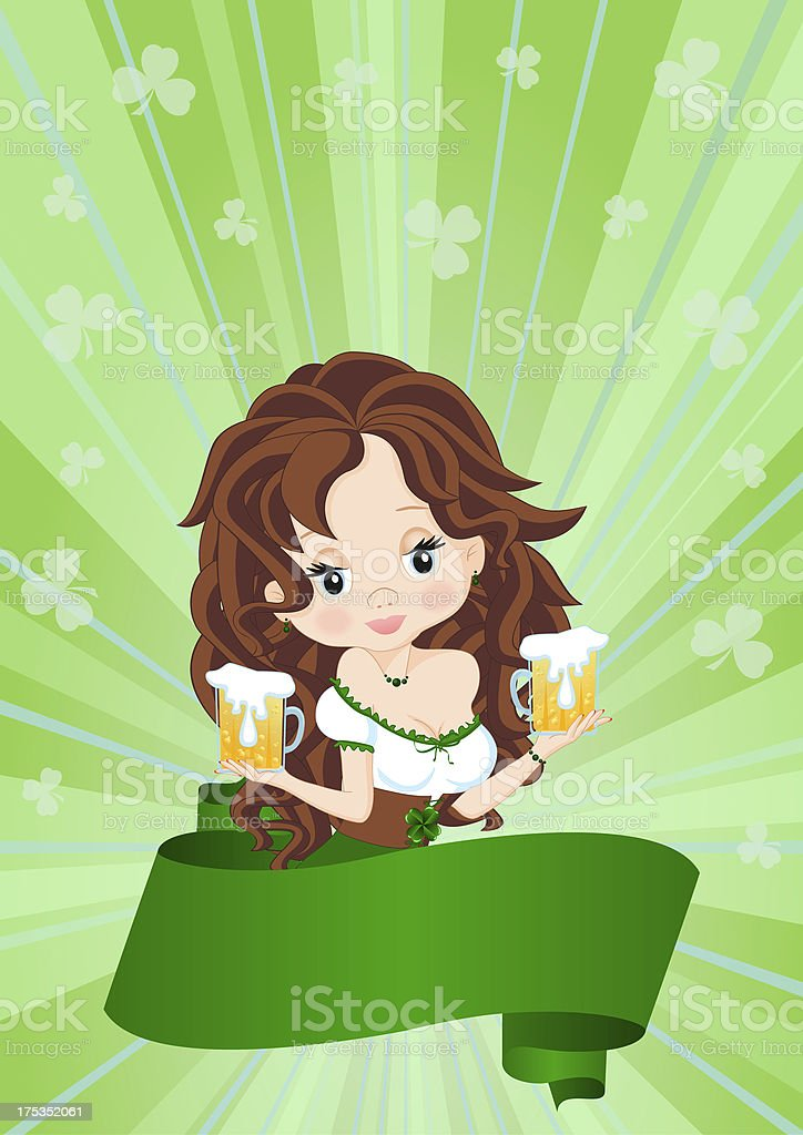 Greeting Card to St. Patrick's Day royalty-free stock vector art