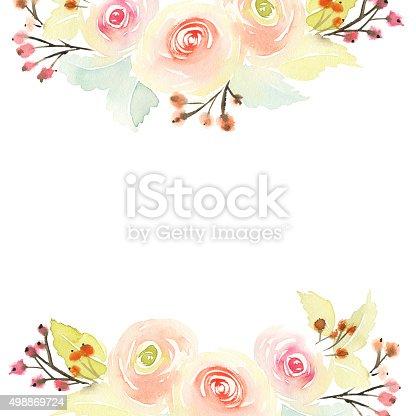 Открытка с цветами акварелью 779