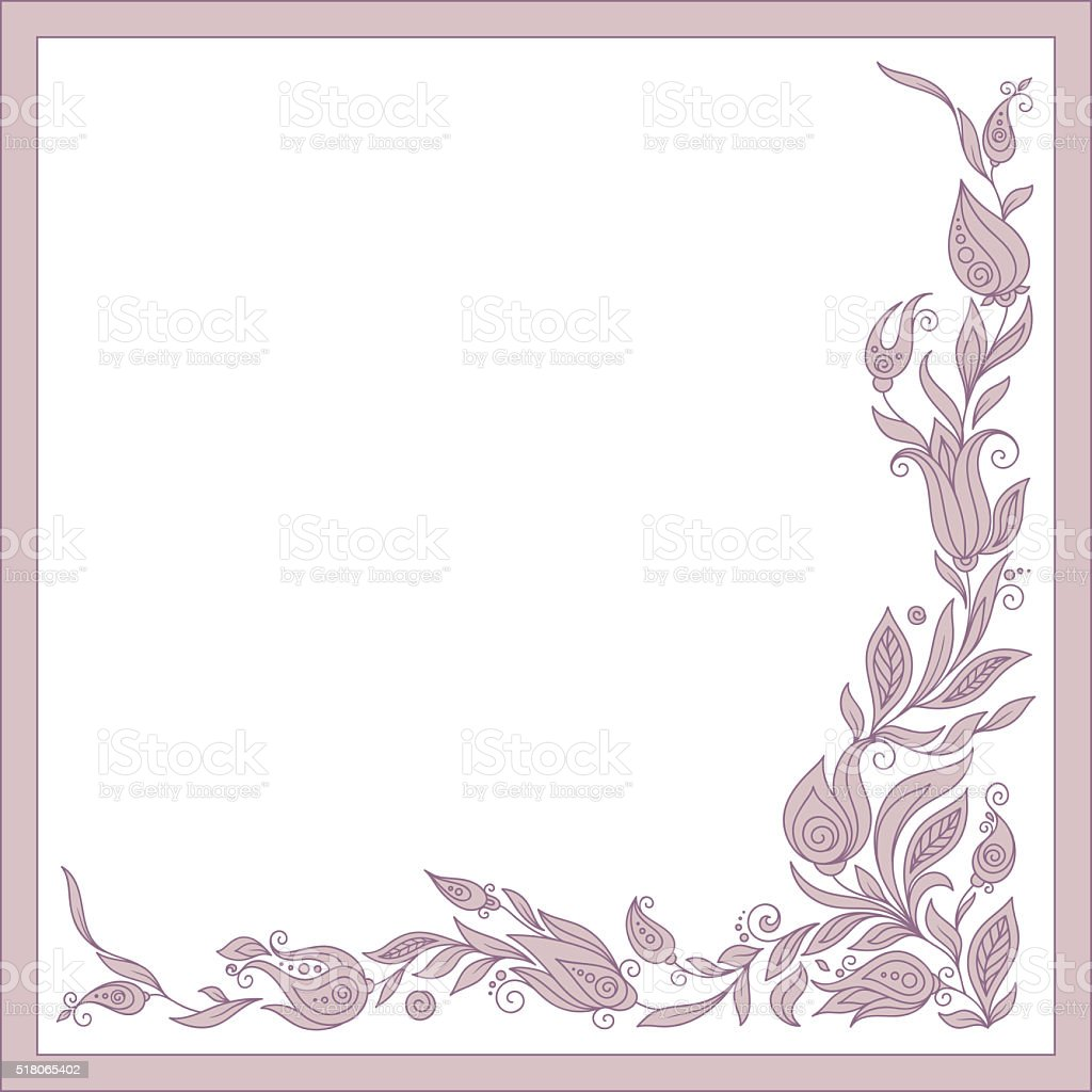 Greeting frame elements for design. vector art illustration