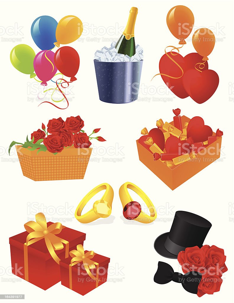 Greeting icons royalty-free stock vector art