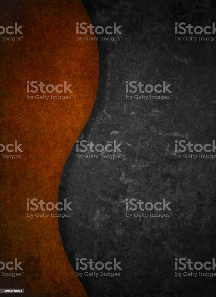 Grey and Orange Curve royalty-free stock vector art