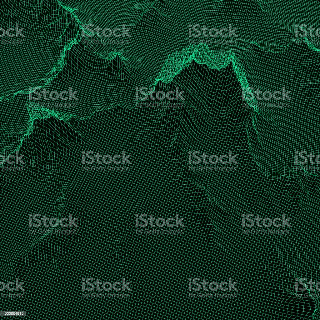 Grid relief vector art illustration