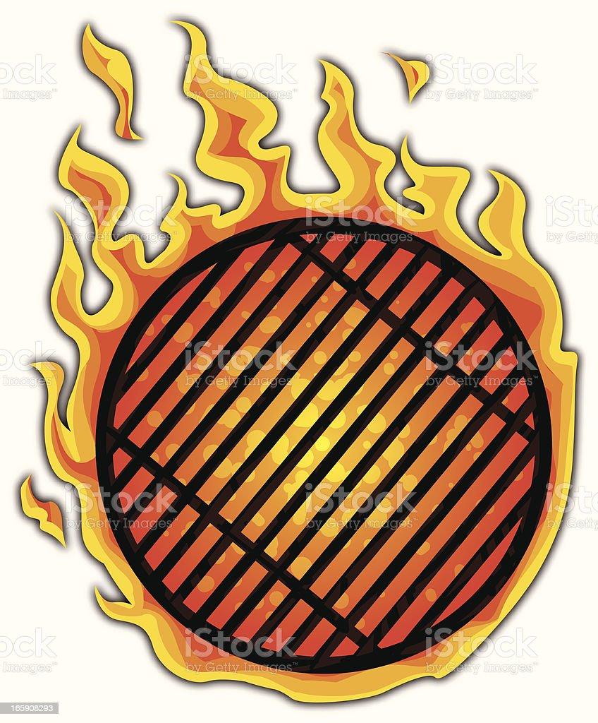 grill fireball royalty-free stock vector art