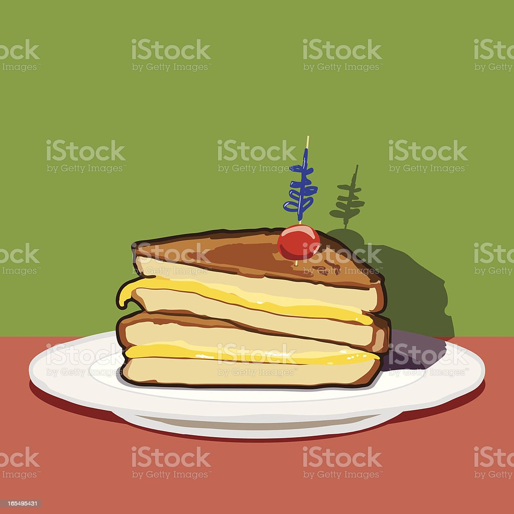 Grilled Cheese vector art illustration