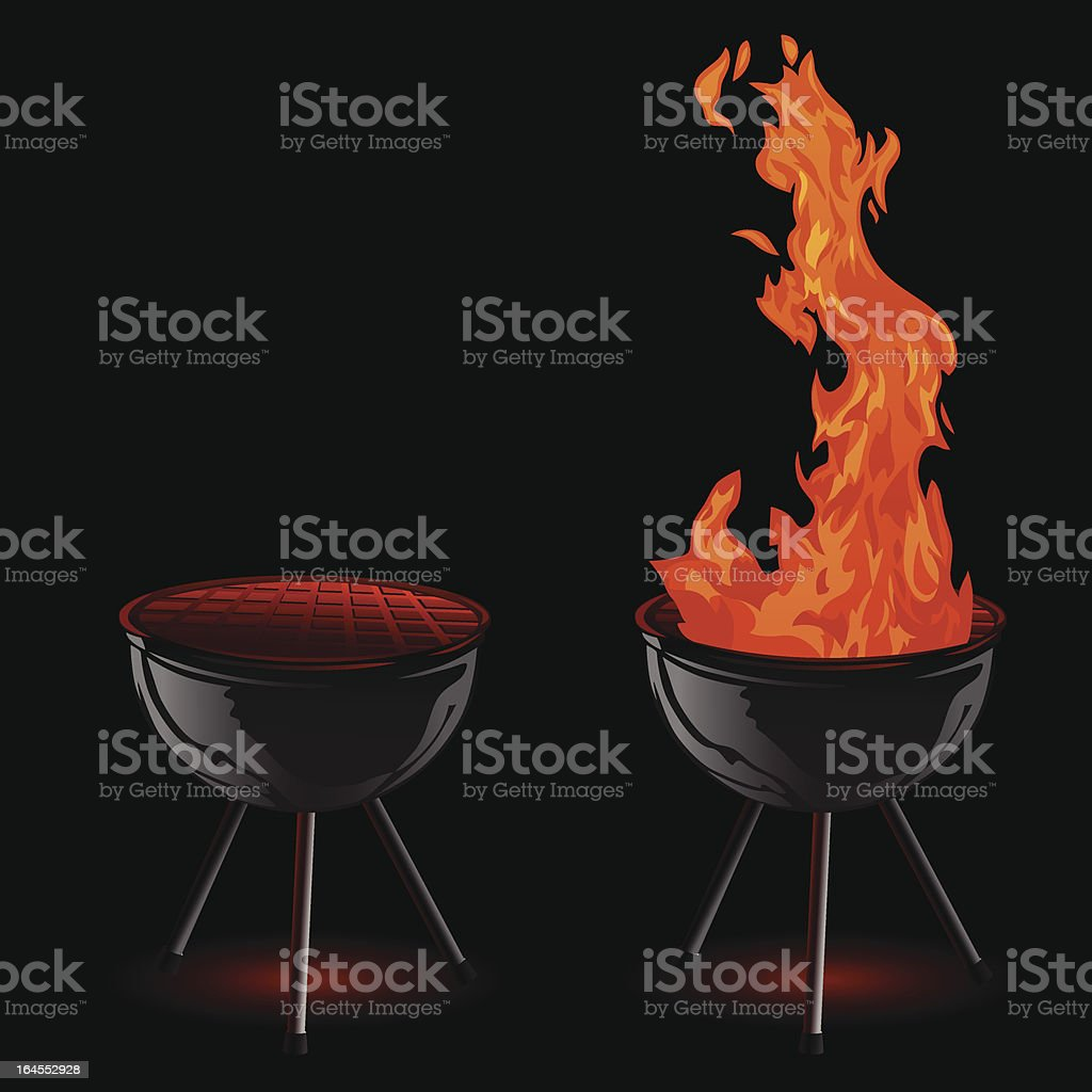 Grilling royalty-free stock vector art