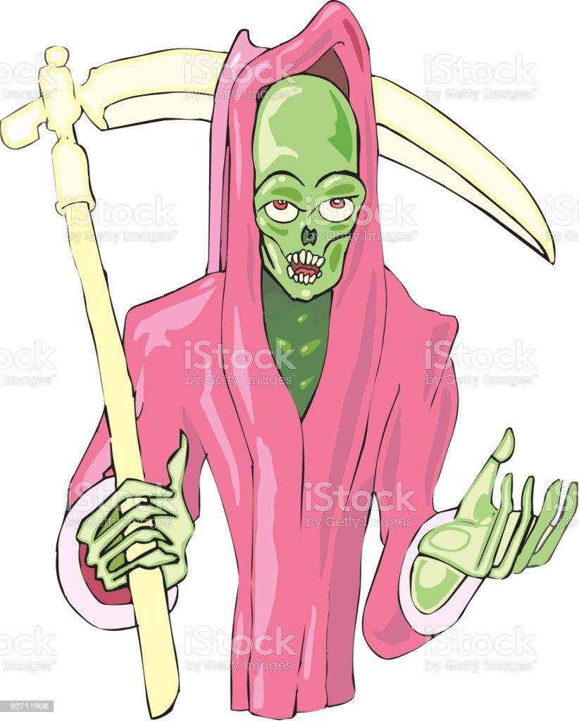 Grim Reaper begs royalty-free stock vector art
