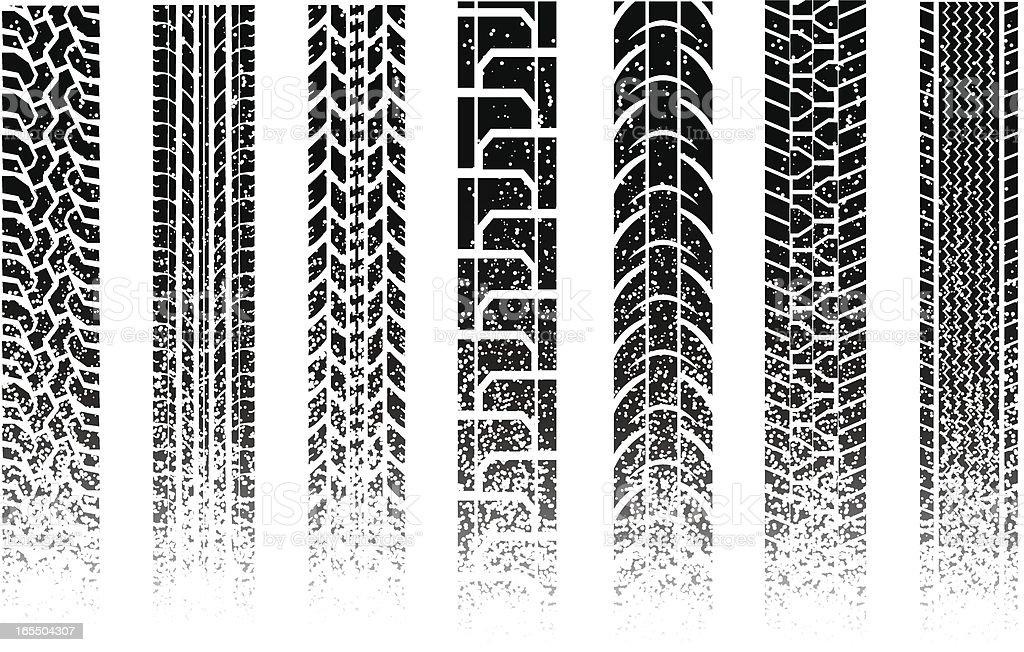 gritty tread vector art illustration