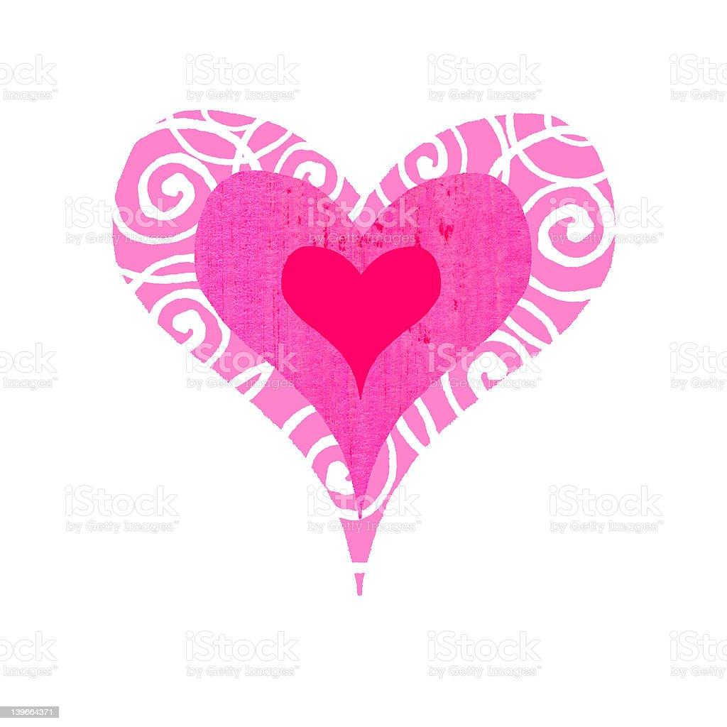 Groovy Heart - Bullseye royalty-free stock vector art