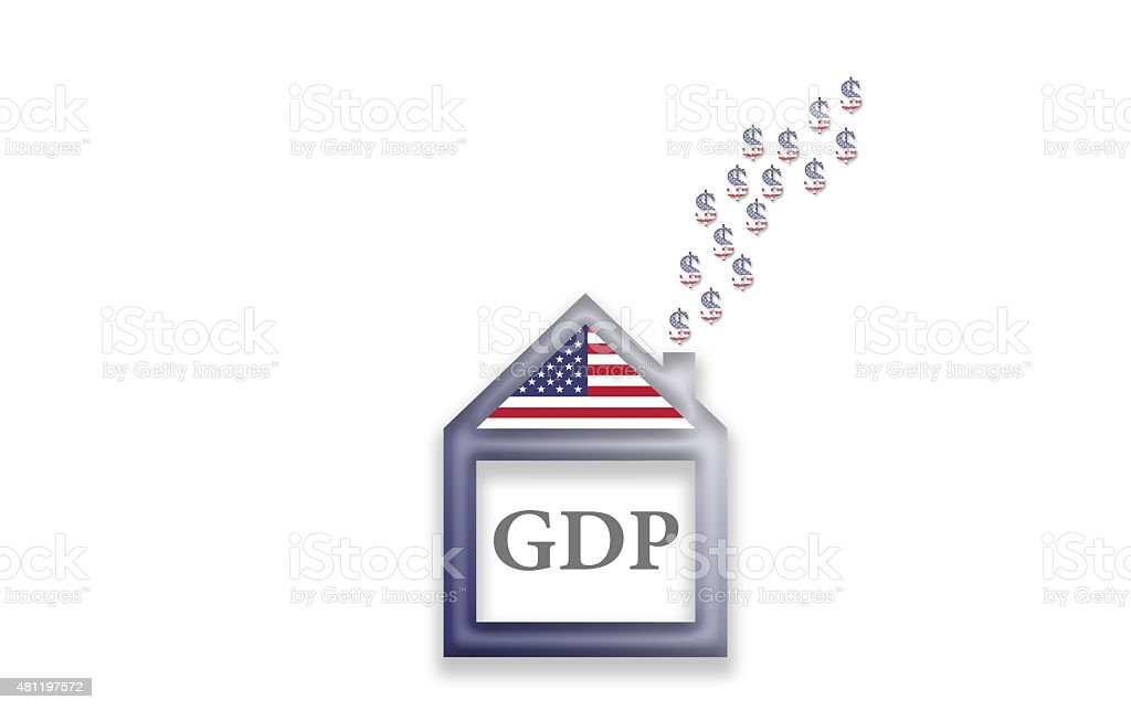 GDP Gross domestic product house vector art illustration