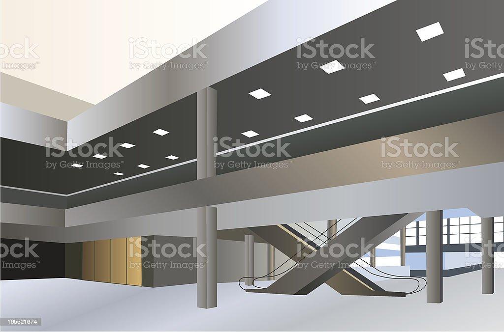 Ground floor of shopping center royalty-free stock vector art