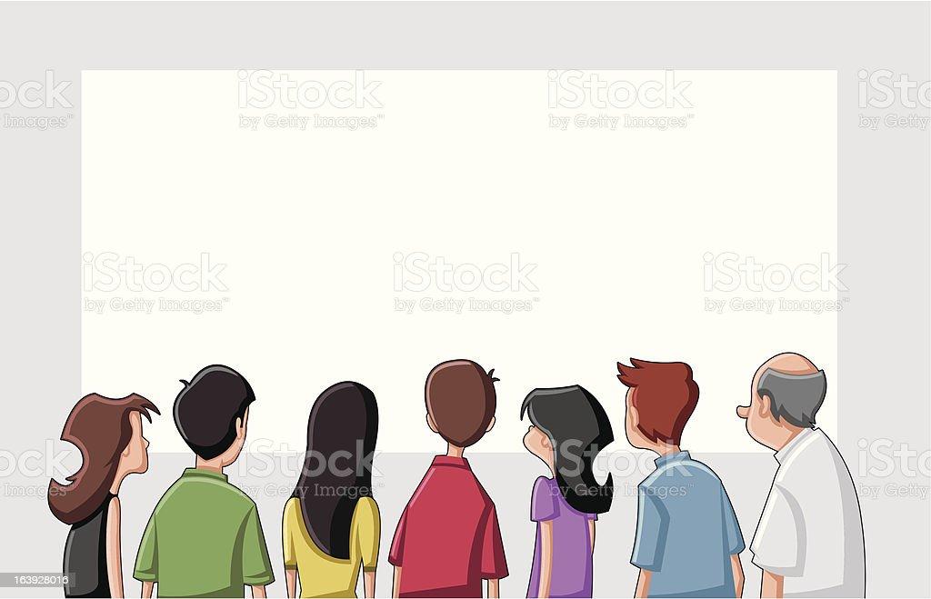Group cartoon people vector art illustration
