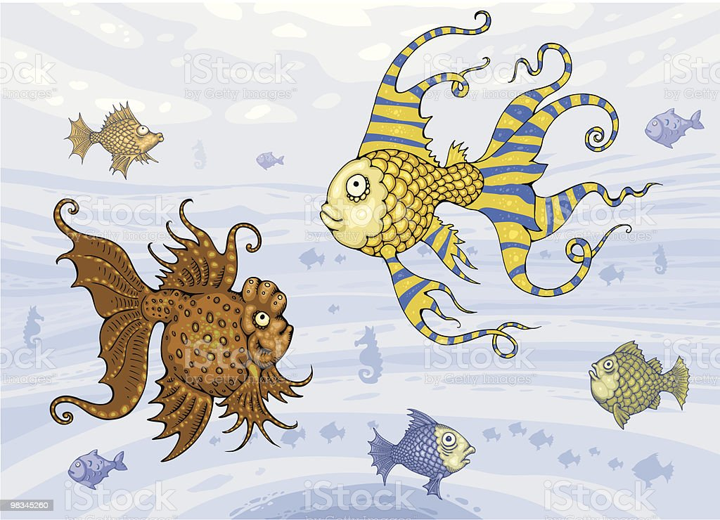 Group of Fish Underwater royalty-free stock vector art