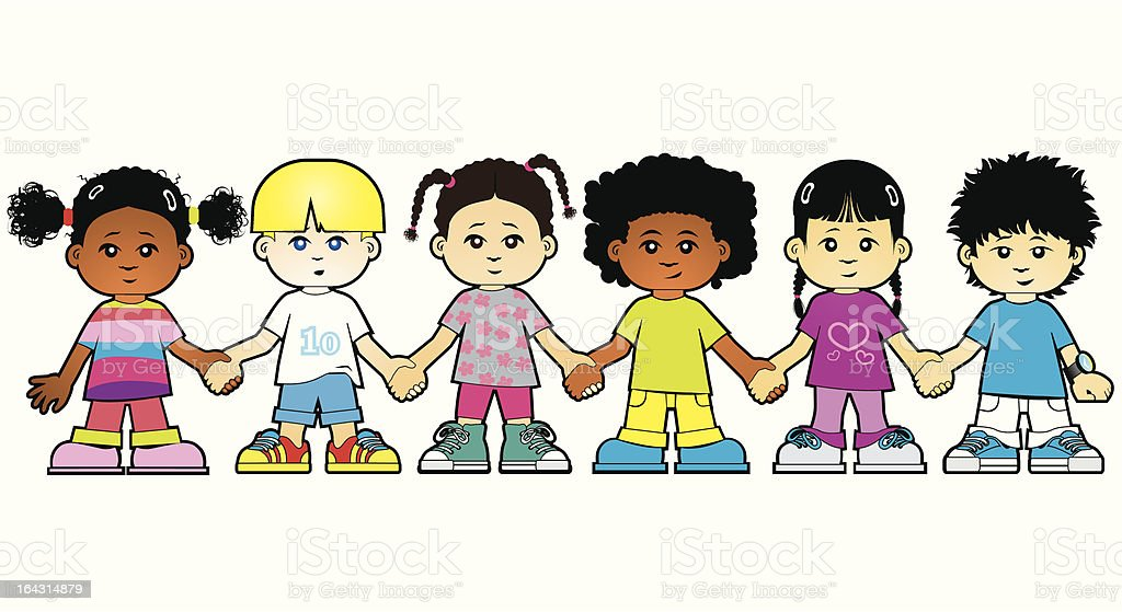 Group of kids royalty-free stock vector art
