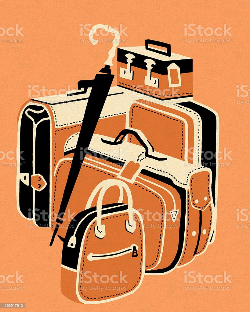 Group of Luggage royalty-free stock vector art