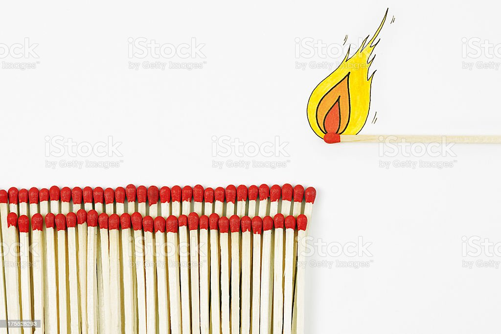 Group of matches royalty-free stock vector art