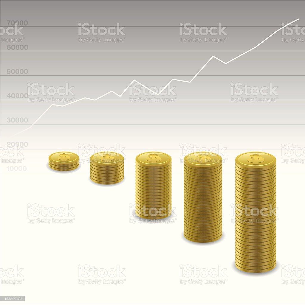 Growing Graph royalty-free stock vector art