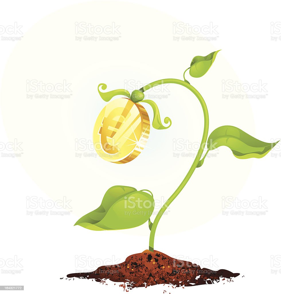 Growing money royalty-free stock vector art