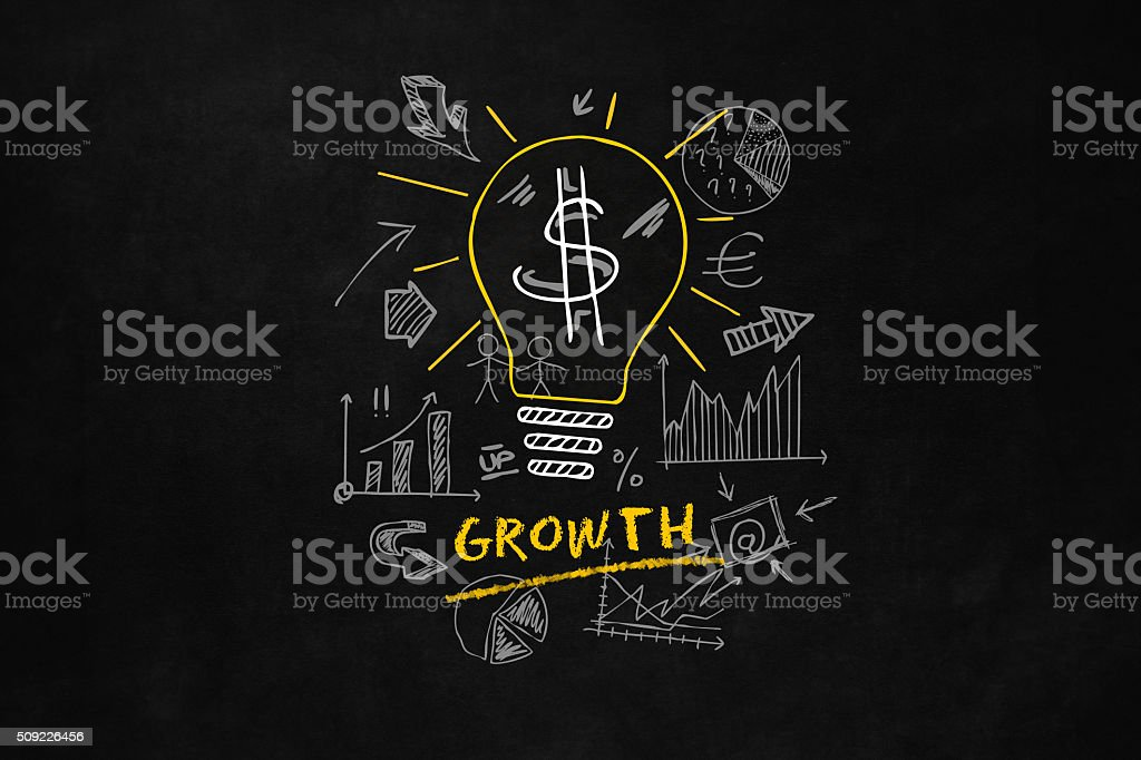 Growth Concept for Business vector art illustration