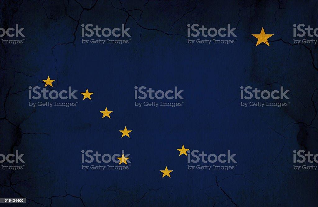 Grunge Alaska State Flag vector art illustration