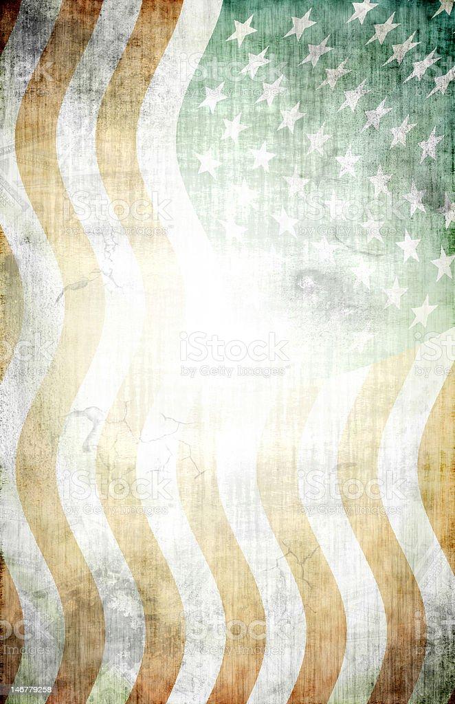 Grunge American Flag Background XL vector art illustration