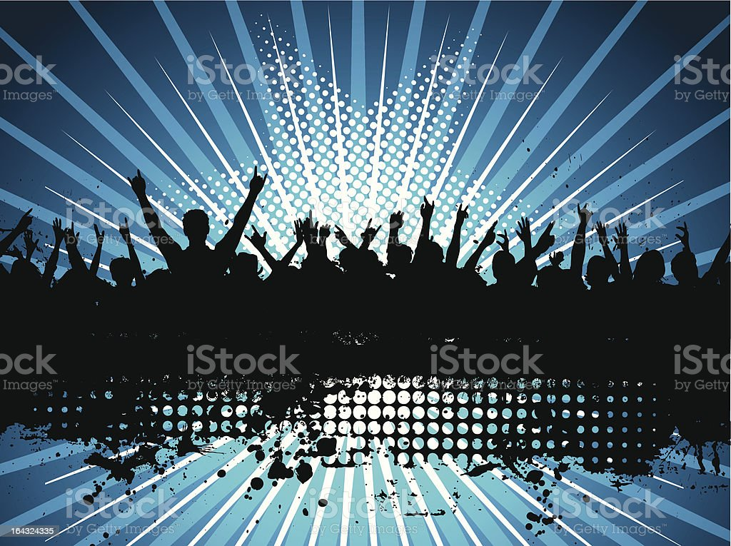 Grunge audience royalty-free stock vector art
