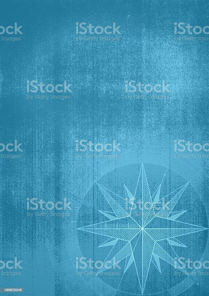 Grunge background with a wind rose.. vector art illustration