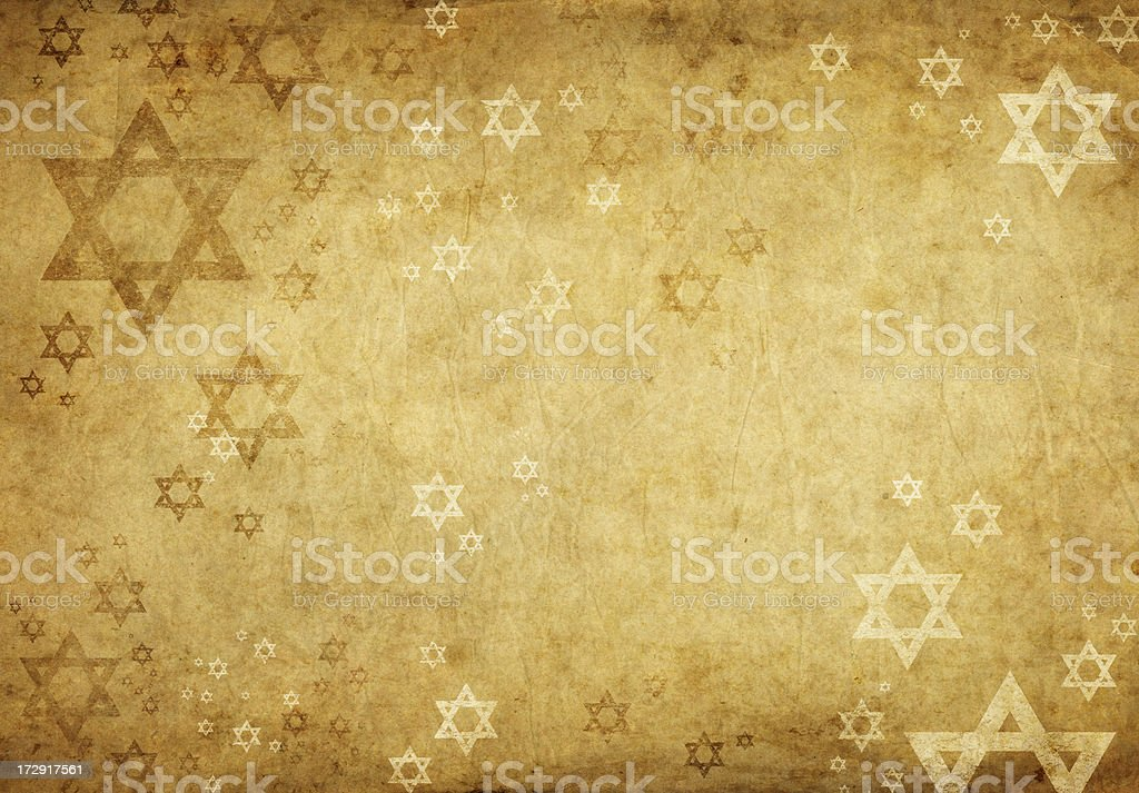 grunge background with david stars vector art illustration