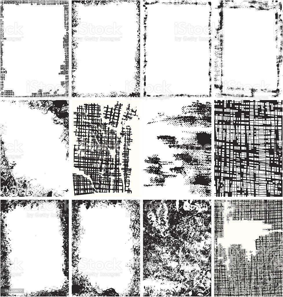 Grunge Backgrounds collection vector art illustration