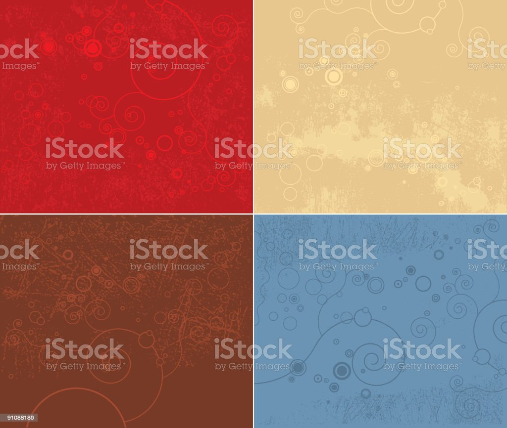 Grunge Backgrounds royalty-free stock vector art