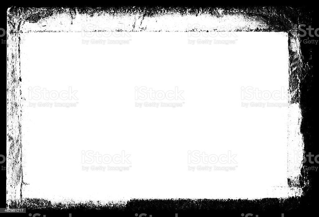 Grunge Black Frame vector art illustration