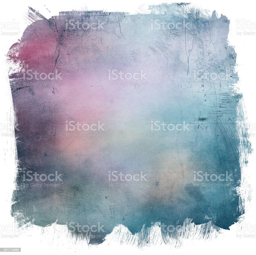 Grunge border and background vector art illustration