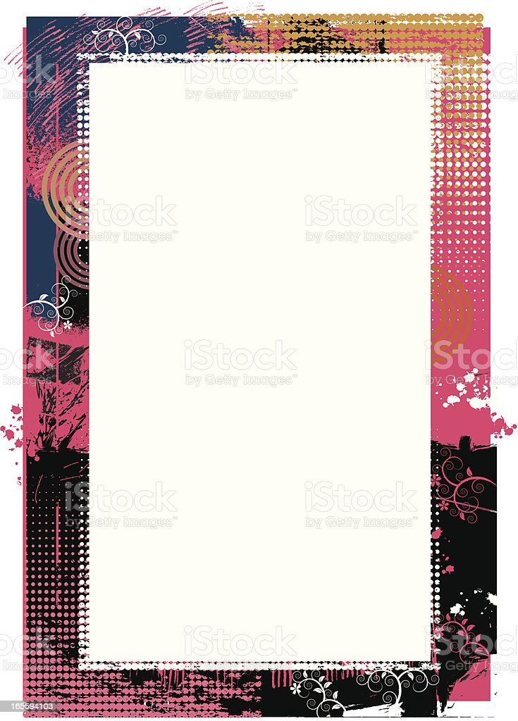 Grunge border two. royalty-free stock vector art