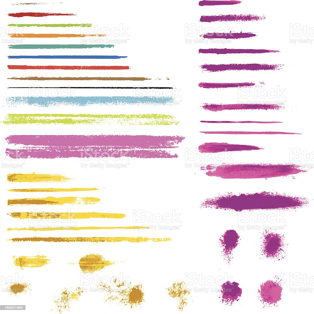 grunge brushes royalty-free stock vector art